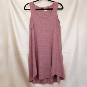 Paper Crane Tunic Waffle Knit Tank Dress Medium